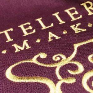 Torba bawełniana z haftem ATELIER SMAKU