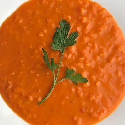 Bezglutenowa i wegańska zupa dahl