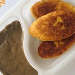 Bezglutenowe i wegańskie sznycle ziemniaczane z sosem grzybowym